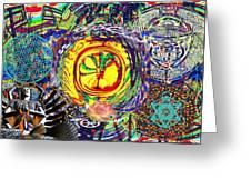 Flowering Shiva Greeting Card by Jason Saunders