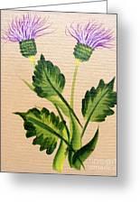 Flowering Thistle Greeting Card