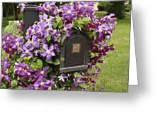 Flowering Vine  Greeting Card