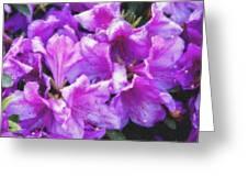 Flowers 2078 Pastel Chalk 2 Greeting Card