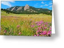 The Flatirons Colorado Greeting Card