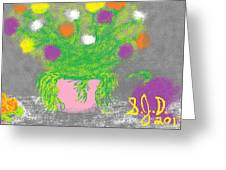 Flowers And Fruit Greeting Card by Joe Dillon