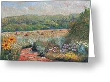 Flowers And Hay Greeting Card by William Killen