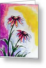 Flowers And Ladybug  Greeting Card
