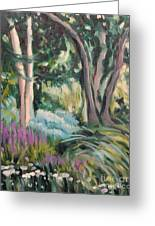 Flowers And Shade Greeting Card