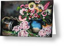 Flowers And Vase Greeting Card