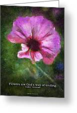 Flowers Are Gods Way 02 Greeting Card