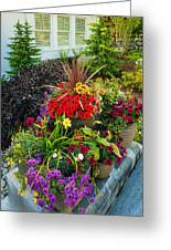 Flowers At Entrance Greeting Card