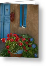 Flowers At Ranchos De Taos Greeting Card