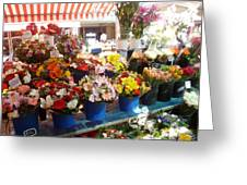 Flowers At The Market Greeting Card