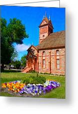 Flowers At The Tabernacle Greeting Card