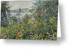 Flowers At Vetheuil Greeting Card