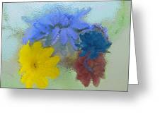 Flowers Behind Glass Greeting Card