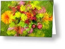 Flowers By The Brush Greeting Card