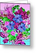 Flowers Designed Just For You Greeting Card