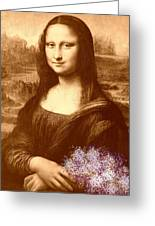 Flowers For Mona Lisa Greeting Card