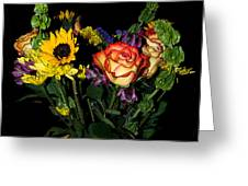 Flowers From The Heart Greeting Card