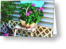 Flowers In A Basket Greeting Card