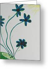 Flowers In A Jade Vase Greeting Card