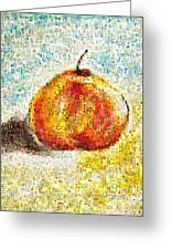 Flowers In A Mosaic Apple Greeting Card