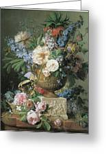 Flowers In An Alabaster Vase Greeting Card