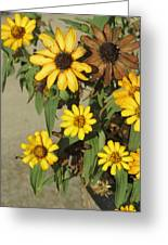 Flowers In Fall 2 Greeting Card