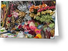 Flowers In Florist Greeting Card