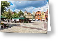 Flowers In Salt Square - Wroclaw Poland Greeting Card