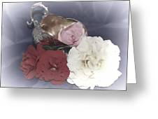Flowers In Silver Greeting Card