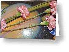 Flowers In Space Greeting Card