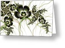 Flowers In The Antique Look Greeting Card
