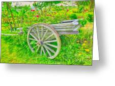 Flowers In A Wagon Greeting Card