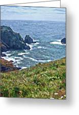 Flowers On Isle Of Guernsey Cliffs Greeting Card