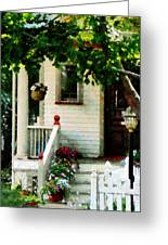 Flowers On Steps Greeting Card