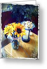 Flowers On Table Greeting Card