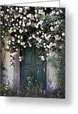 Flowers On The Door Greeting Card