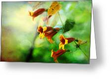 Flowers On The Vine Greeting Card
