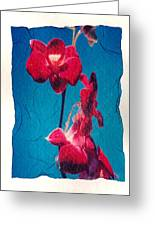 Flowers On Watercolor Paper Greeting Card