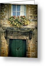 Flowers Over Doorway Greeting Card