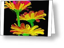 Flowers Quick Strokes Greeting Card