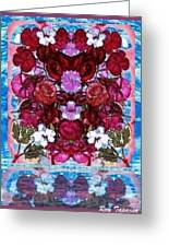 Flowers Touching Souls Greeting Card