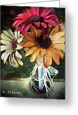Flowers Water Ripples Greeting Card