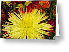Flowers Yellow Greeting Card