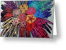 Flowers Burst By Jasna Gopic Greeting Card