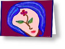 Flowerwoman Greeting Card
