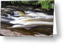 Flowing And Cascading At The Falls Of Dochart - Killin Scotland Greeting Card