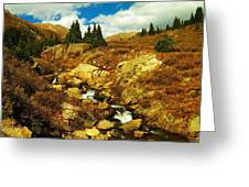 Flowing Down To Aspen Greeting Card