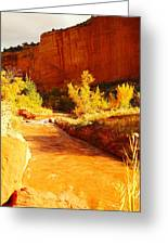 Flowing From Capital Reef Greeting Card
