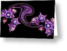 Flowing Purple Velvet 2 Greeting Card