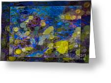 Flowing River Water And Rocks Colorful Abstract Painting Greeting Card